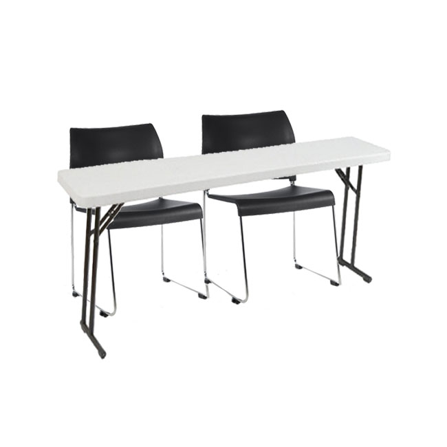 8704-2-bt160-x-plastic-resin-seminar-folding-table-with-two-sled-base-vinyl-seat-stack-chairs