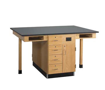 c2416kf-double-face-student-service-island-four-student-no-sink-doordrawers