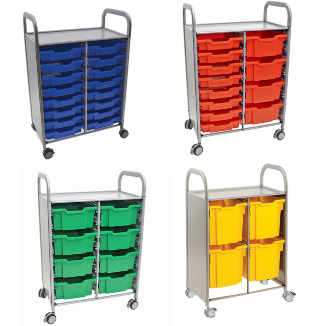 Click here for more Callero Silver Double Cart w/ Trays by Gratnells by Worthington
