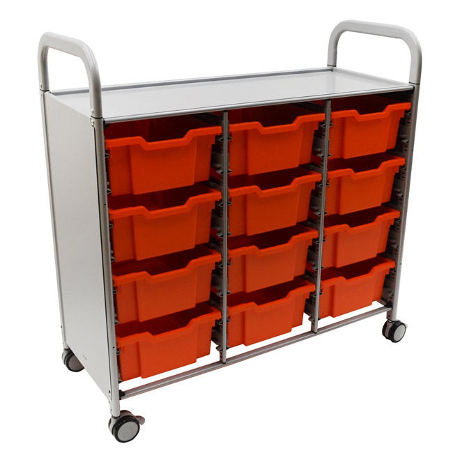Click here for more Callero Silver Treble Cart w/ Trays by Gratnells by Worthington
