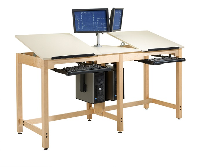 Shain Cdtc 73 Two Station Cpu Drafting Table