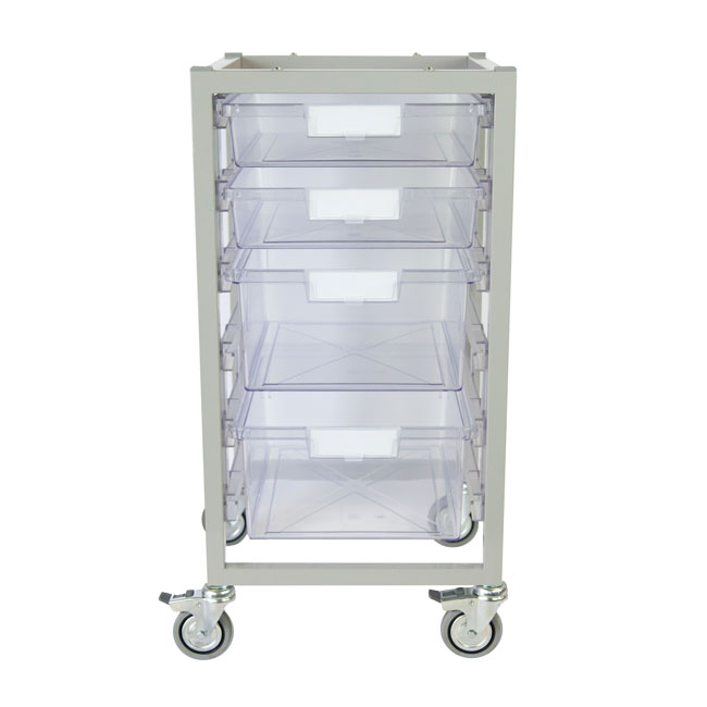 antimicrobial-nimble-cart-2-single-depth-2-double-depth-trays-clear