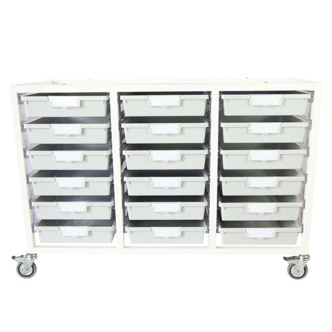antimicrobial-class-act-cart-18-single-depth-trays-light-gray