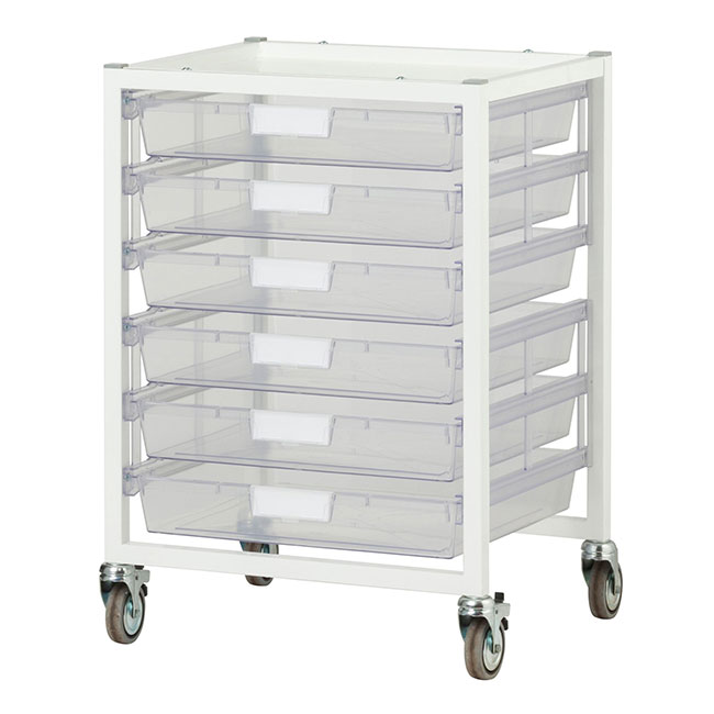 antimicrobial-wide-nimble-cart-6-single-depth-trays-clear