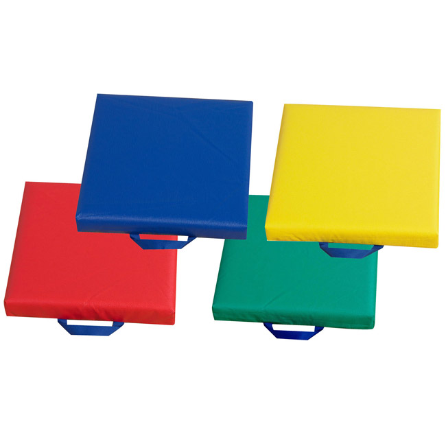 Floor Pillows For Daycare : Children s Factory Cf321-164 Square Floor Cushions W/ Handles - Set Of 4