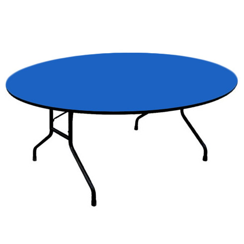Folding Table With 3 4 Thick High Intensity Color Top 60 Round Fixed Height