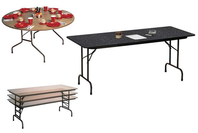 all folding tables with 3 4 thick laminate top by correll options rh worthingtondirect com