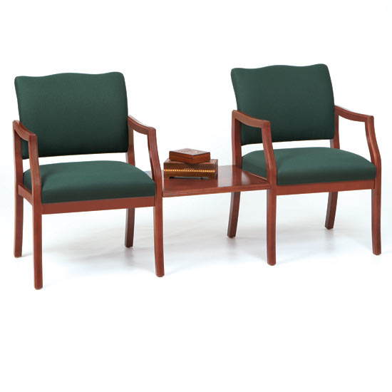 Lesro D2856k5 Franklin Series 2 Chairs W Connecting Center Table Healthcare