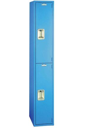 Lyon metal designer line double tier 1 wide locker Designer lockers
