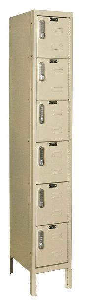 uel1258-6-digitech-six-tier-1-wide-lockers-w-electronic-lock-unassembled-12-w-x-15-d-x-12-h