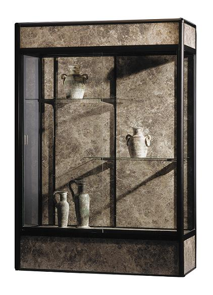 93c84-elite-freestanding-display-case-w-cornice-and-light-4-w
