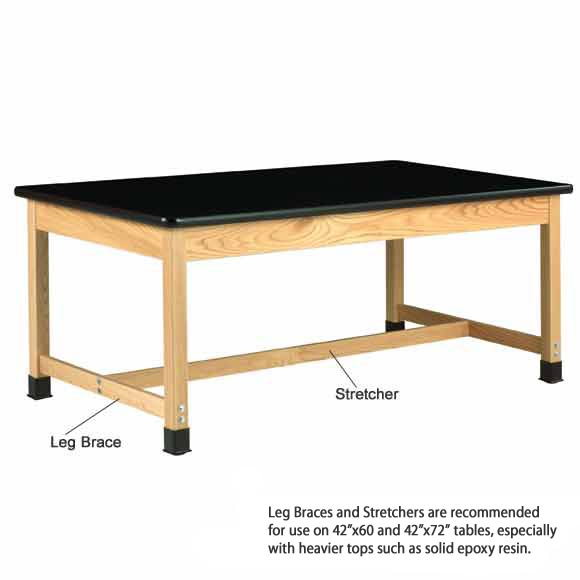 Diversified Woodcrafts Solid Epoxy Resin Top Hardwood Science Lab