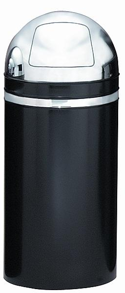 15dt-22-monarch-series-dome-top-receptacle-black-w-chrome-accents