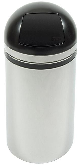 15dt-44-monarch-series-dome-top-receptacle-chrome-w-black-accents
