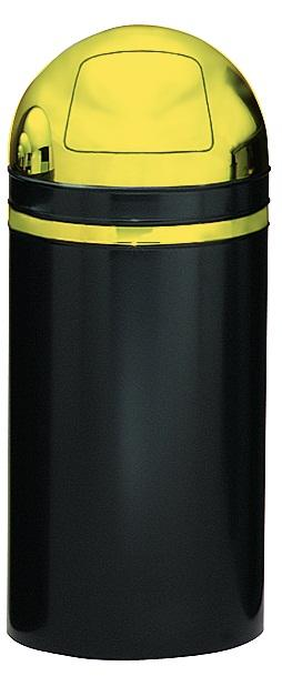 15dt-11-monarch-series-dome-top-receptacle-black-w-brass-accents