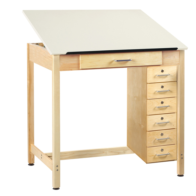 dt-31a-drawing-table-w-1-piece-top-w-drawers