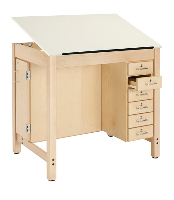dt-33a-drawing-table-w-1-piece-top-w-drawers-board-storage