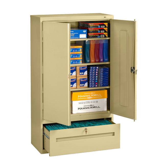 dwr-6618-x-welded-storage-cabinet-with-file-drawer-36-x-18-x-66