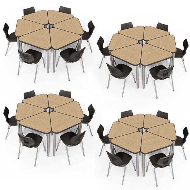 classroom-set-of-24-triangle-elemental-desks-14-flavors-chairs