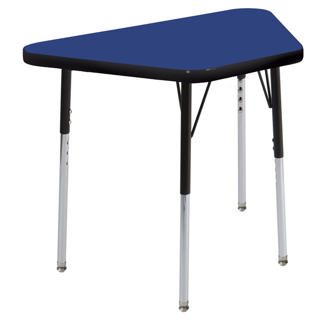 Ecr4kids elr 14126 s activity table w nylon glides for Trapezoid table