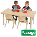 Rectangular Plastic Resin Activity Table & Chair Sets by ECR4Kids
