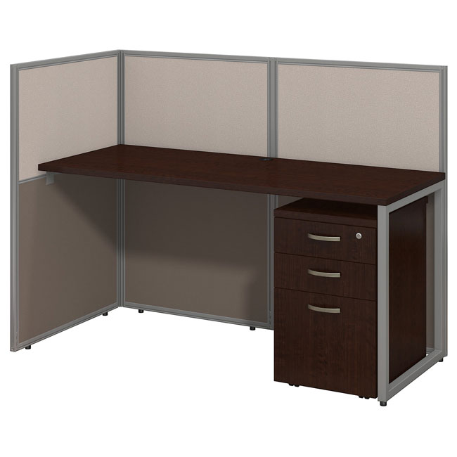 Easy Office 60w Straight Open Desk With Mobile File Cabinet