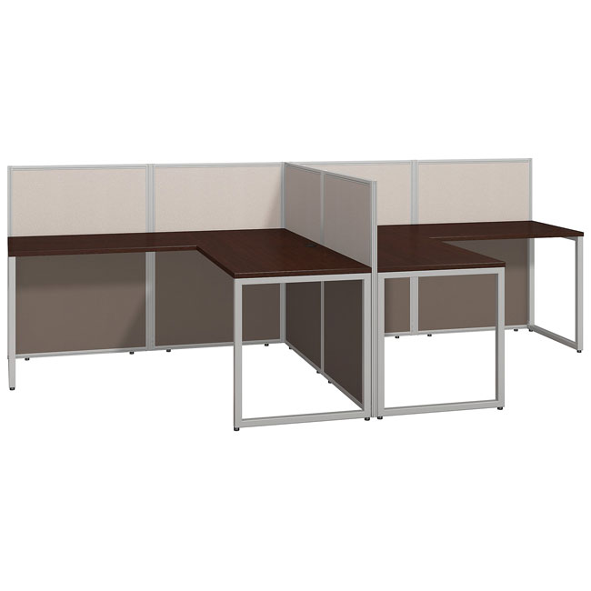 hot sale online 8d8b8 608bf Easy Office 60W 2-Person L-Shaped Desk
