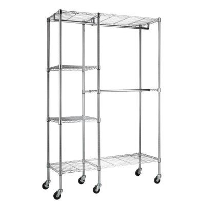 74cb2ca9ab3 Sandusky Lee Mobile Wire Shelving Garment Rack - Ezgr4818-Rw3 ...