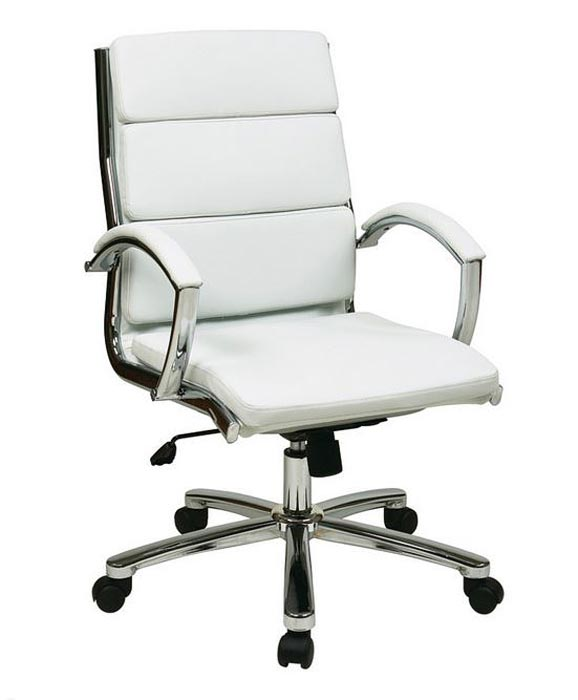 office star mid back executive faux leather chair