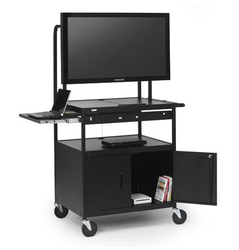 fp42mulc-p5bk-flat-panel-cart-w-cabinet-pull-out-shelf-42-monitor1