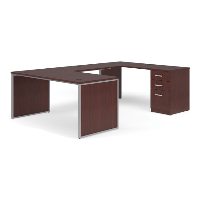 ful-pkg-1090-fulcrum-u-shaped-desk-with-bridge-credenza-and-pedestal-filing-cabinet-60-desk-with-leg-panels-3-drawer