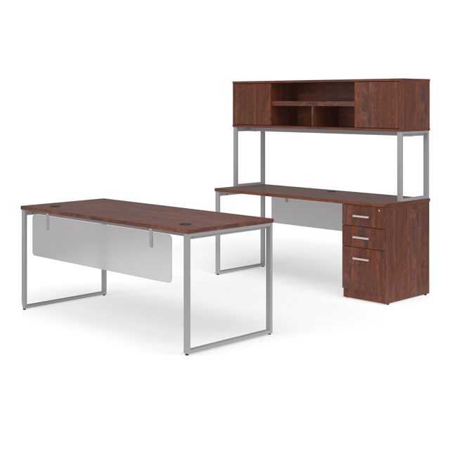 ful-pkg-2083-fulcrum-desk-with-credenza-hutch-and-pedestal-filing-cabinet-72-desk-with-modesty-panels-3-drawers