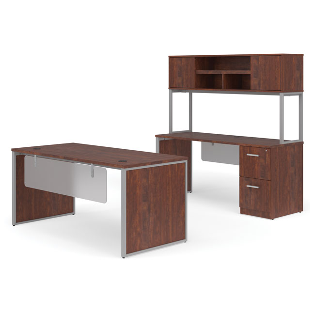 ful-pkg-3080-fulcrum-desk-with-credenza-hutch-and-pedestal-filing-cabinet-60-desk-with-leg-modesty-panel-inserts