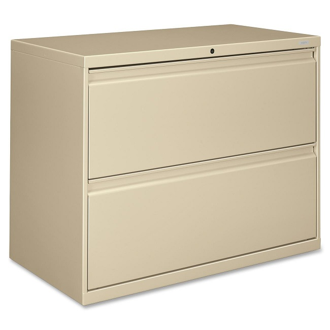 Hirsh Receding 5 Drawer Lateral File Cabinet File in Putty