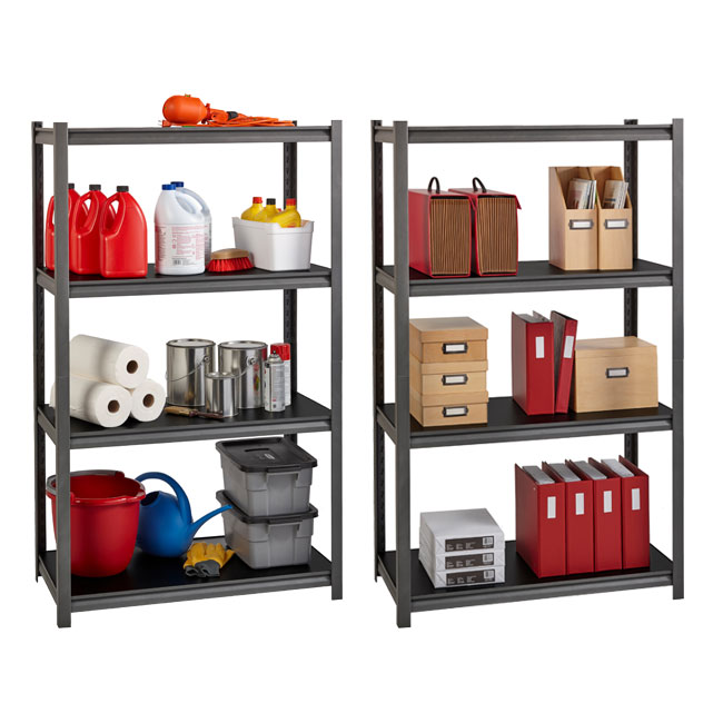 Hirsh Industries Iron Horse 3200 Series Riveted Shelving System 4 Shelf Unit 36 W X 16 D X 60 H 20995 Shelving Worthington Direct