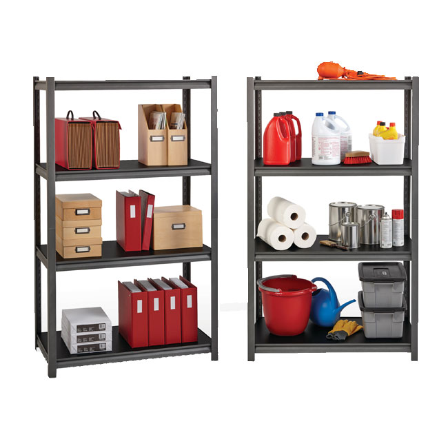 Hirsh Industries Iron Horse 3200 Series Riveted Shelving System 5 Shelf Unit 48 W X 24 D X 72 H 20998 Shelving Worthington Direct
