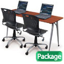Package Deal- iFlex Seminar Table & Training Chairs by Balt