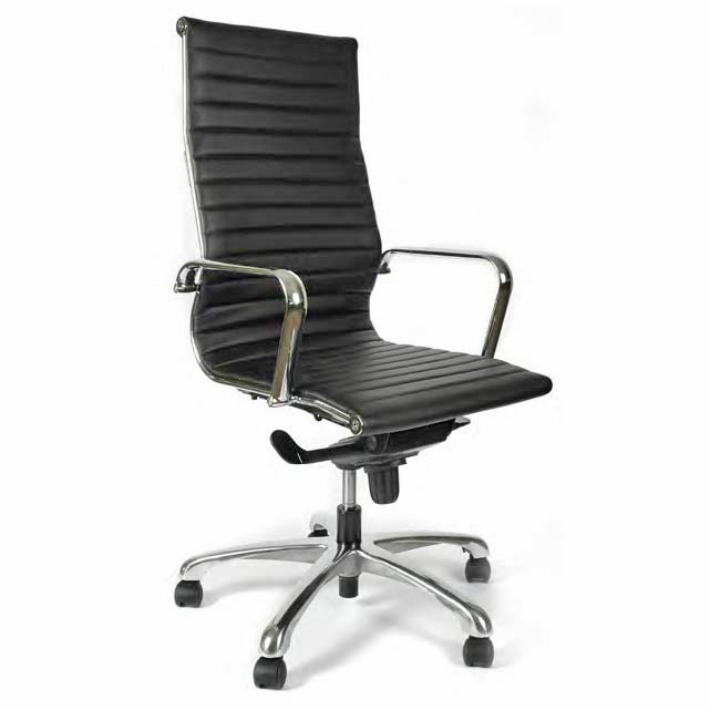Segmented Leather Executive Swivel Office Chair