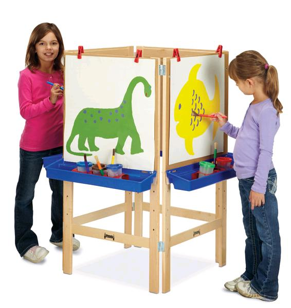 4 Student Art Easel for Collaboration