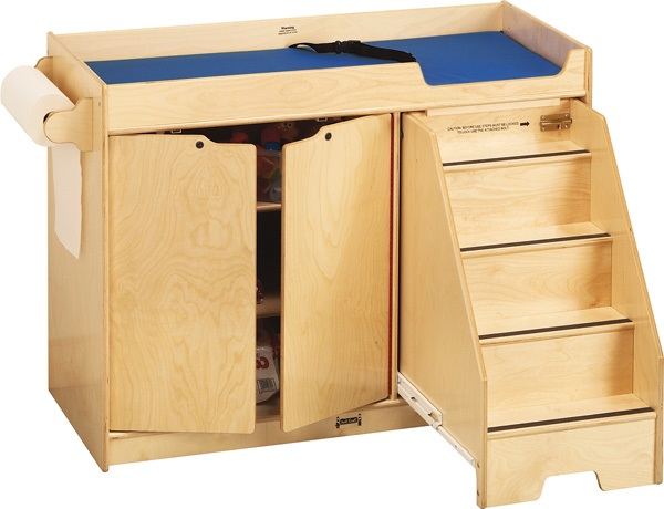 6d5e99af0e00 Jonti-Craft Wooden Changing Table With Right Stairs - 5137jc ...