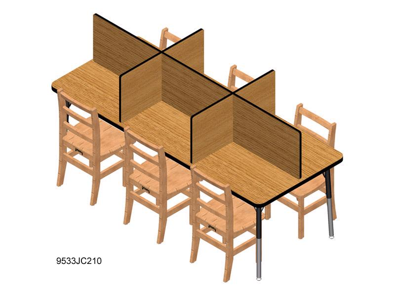 9533jc-table-top-study-carrel-fits-30-x-72-table