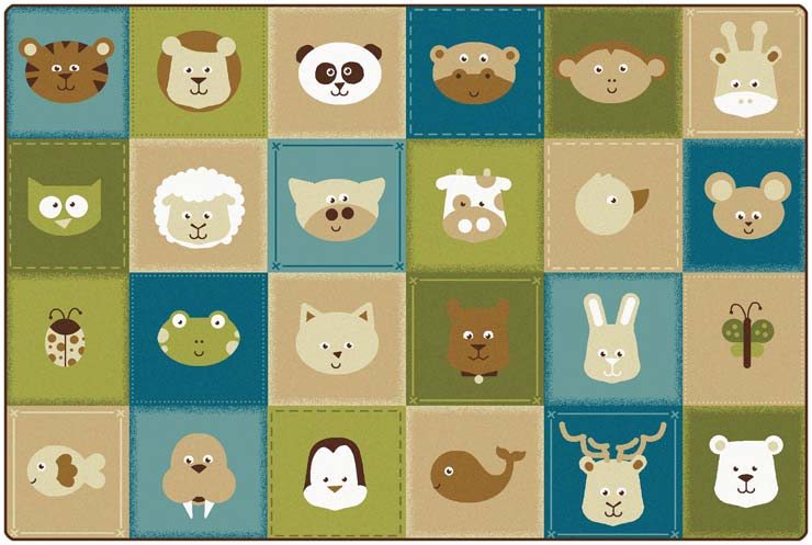 43756-animal-patchwork-kidsoft-rug-6x9-rectangle-nature-colors