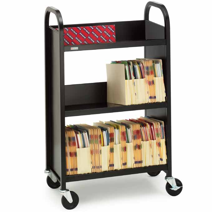 l327-booktruck-w-3-slanted-shelves-26-w