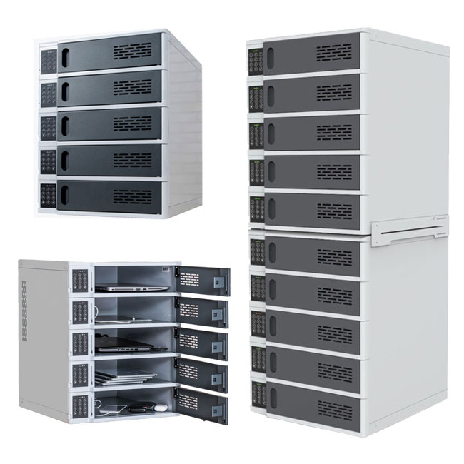 5-bay-charging-locker-for-mobile-devices-by-luxor