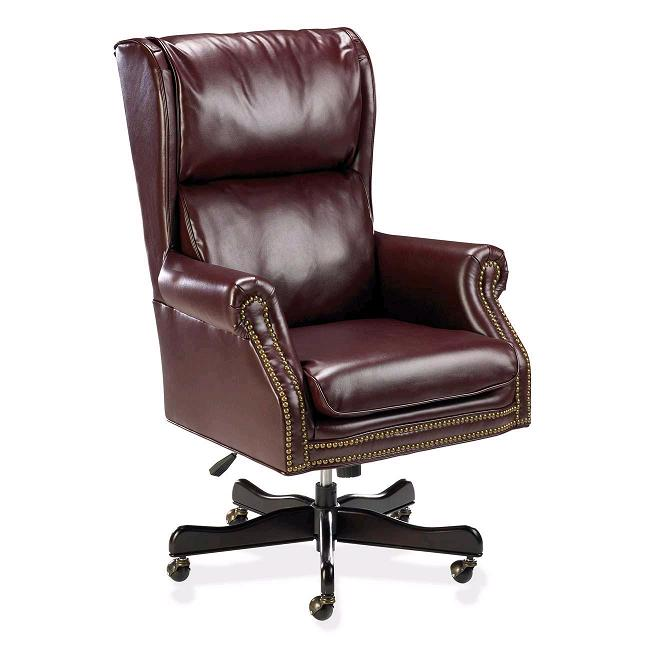 Traditional High-Back Chair by Lorell