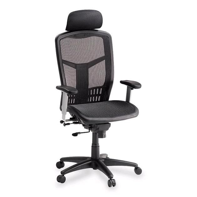 Lorell High Back Mesh Chair W Headrest Llr60324 Mesh Office