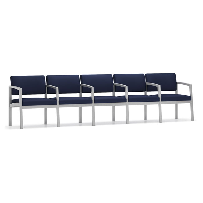 Lenox Steel Series 5 Seat Sofa W/Center Arms - Healthcare Vinyl