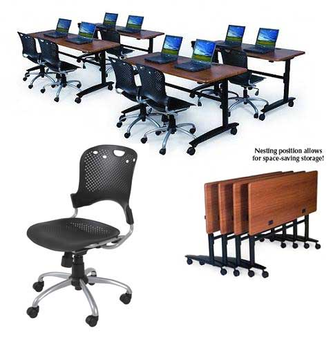 pkg34552290064-two-task-chairs-w-one-lumina-flip-top-table-60-x-24
