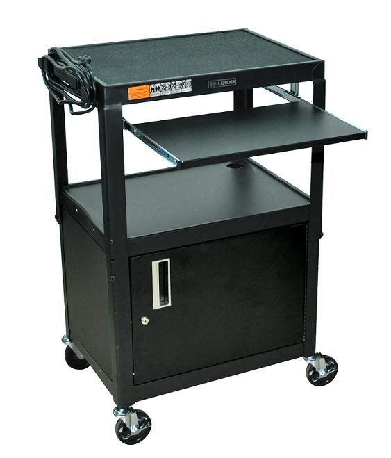 avj42kbc-adjustable-height-metal-cart-w-cabinet-keyboard