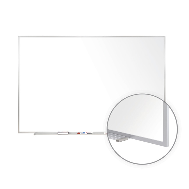 Click here for more Painted Steel Magnetic Whiteboards - Aluminum Frame by Ghent by Worthington